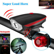 Super Bright Usb Led Bike Bicycle Light Rechargeable Headlight &Taillight Set Us