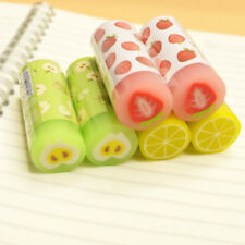 1pc Kawaii Rubber Fruit Eraser Novelty Gift for School Student Office Stationery