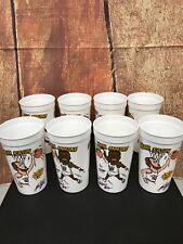 Vtg Pizza Hut Karl Malone Mark Eaton Plastic Cups Lot Of 8