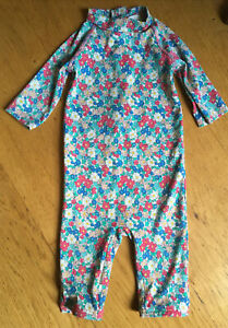 Baby Boden 12-18 Months Girls Swimming Costume Long length arms legs Floral
