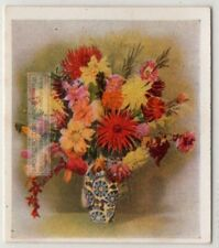 How To Display Blooming Dahlia Flowers In A Vase c80 Y/O Ad Trade Card