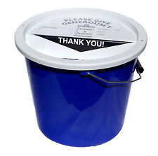Charity Fundraising Money Collection Bucket 5.7 Litres - Dark Blue