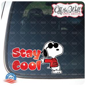 Stay Cool Joe Cool Printed Die-cut Vinyl Decal Sticker