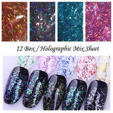 12 Colors/set Nail Art Sequins Shining Metallic Glitter DIY Manicure Decoration