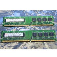 LOT OF 2 RAM HYNIX PC2-5300U DDR2 667 CL5 240 PIN DUAL-SIDED DUAL-RANK, UNTESTED