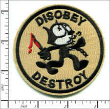 20 Pcs Embroidered Iron on patches Felix The Cat Destroy AP036fC4