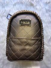 Woman's Mini Backpack bebe Julia Bronze Pewter Gold Chain NWT
