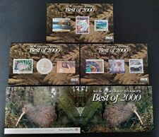 New Zealand Best of 2000 Stamps complete set 3 Mini-Sheets MS Mint NH in Folder