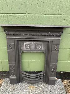 original Ornate Restored Cast Iron Fireplace Ready For Fitting £250