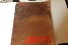 Programme du Théâtre Pigalle JUDITH de jean GIRAUDOUX  louis  JOUVET année 30