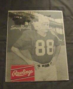 1960's Rawlings Football Poster Sonny Randle St Louis Cardinals
