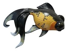 Fancy Black and Yellow Goldfish Childs Room Bath 8 Inch Wall Decor