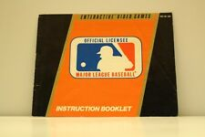 NES Video Game Manual ONLY for Major League Baseball