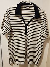 LADIES MILLERS SIZE 20 BLACK WHITE & YELLOW STRIPED TOP