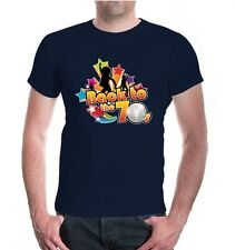 Herren Unisex Kurzarm T-Shirt Back to the 70s 70iger Jahre Party Disco 54
