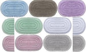 Badematte Badezimmergarnitur Set Baumwolle 100% Badteppiche Duschvorleger
