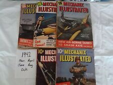 5 Mechanix Illustrated Magazines From Year 1942