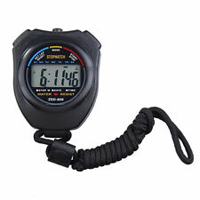 Handheld Digital LCD Chronograph Sports Counter Stopwatch Timer Alarm Stop