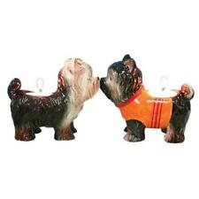 Mwah! 93485 Kissing Yorkie Dogs Ceramic Magnetic Tealight Candle Holders Bnib