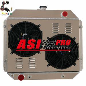 4 ROW Radiator+Shroud+Fan+Relay FOR 1966-79 FORD F100 F150 F250 F350 Truck
