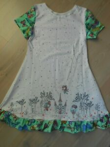 Jersey  Sommer  Kleid  Gr.122-128 Farbenmix Handmad Digitaldruck