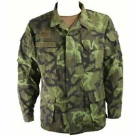 Used Czech Army M95 Green Camo Combat Military Field Shirt BDU Jacket