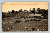 Chester WV, The Entrance, Rock Springs Park, West Virginia Vintage Postcard
