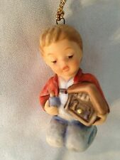 "Goebel Hummel 2 1/2"" Boy With House Figurine Ornament"