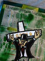 GREED AD PAINTING by JB4 Original ART Pop Urban MODERN Graffiti artwork