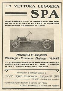 W7666 The Lorry Light Spa - Advertising Of 1909 - Old Advertising