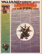 1994 January Valiant Voice - Bloodshot Centerfold - Comics Promo Newspaper #8