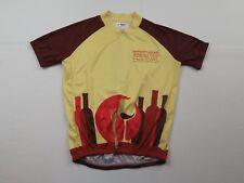Mens Wine Food Festival Bike Cycling Jersey Size Medium Shirt MTB Race Team Zip