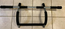 IRON GYM PRO FIT PULL UP UPPER BODY WORKOUT BAR Door Frame Mobile Exercise Black
