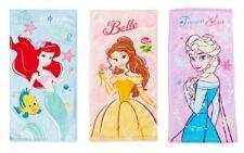Disney Princess Cinderella Mermaid Belle Elsa Towels Bath Face Cloth Cute Frozen