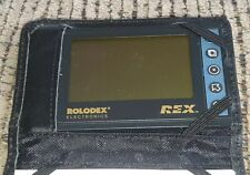 Vtg Rolodex Electronics Rex 3 Business Card Manager Euc Working Pocket Size Case