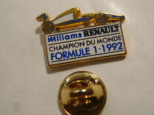 PIN'S WILLIAMS RENAULT CHAMPION DU MONDE  F1 1992 ARTHUS BERTRAND PARIS