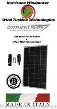 100W 12V PolyCrystalline Solar Panel + 1 Pair MC4 Connectors Off Grid RV Marine
