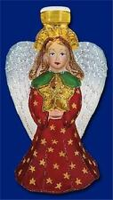 RADIANT ANGEL W/ STAR OLD WORLD CHRISTMAS FROSTED GLASS LIGHT COVER NWT 52070