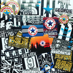 100 x United Stickers inspired by Newcastle Shirt Scarf Badge Flag NUFC Poster