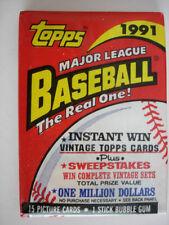 1991 Topps Baseball Cards - 2 Packs Of Cards - 15 Cards per Pack