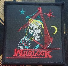 Warlock - Patch Original Vintage Woven Rare 80's 90's Free Shipping