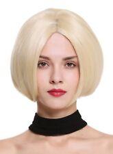 PERRUQUE pour femme Monofilament carré court lisse lace-front blond clair blond