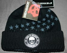 AUTHENTIC SONS OF ANARCHY SAMCRO REVERSIBLE WINTER BIKER BEANIE SOA HAT
