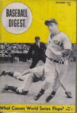 1947 (Oct.) Baseball Digest  magazine, Joe DiMaggio, New York Yankees ~ Good