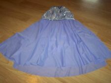 Child Size Large Weissman's Lilac Purple Long Skirted Dance Skating Leotard EUC
