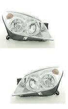 VAUXHALL ASTRA H MK5 2004- 2010 CHROME HEADLIGHT HEADLAMP  PAIR SET O/S N/S