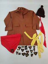 More details for vintage brownie girl guides uniform hat neckerchief handbook annuals badges