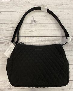 NEW Vera Bradley Classic Black Large On the Go Crossbody Bag Purse