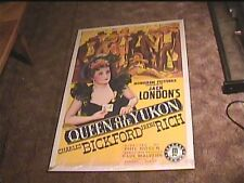 QUEEN OF THE YUKON 1940 ORIG MOVIE POSTER CHARLES BICKFORD