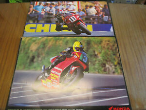 HONDA RC45 ,HONDA RS250 MOTORCYCLE RACING POSTERS. MAN CAVE,GARAGE,BEDROOM ETC